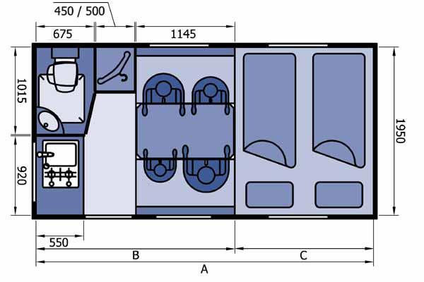 Жилой модуль в пикап схемы чертежи планировки